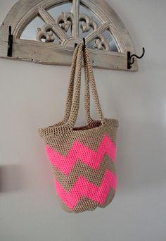 Chevron Tote Bag: free pattern
