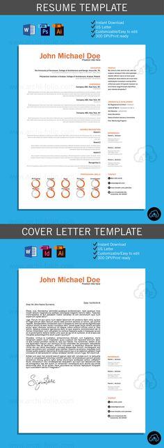 Resume // Minimal 2 Theme //Customizable//Professional Architecture/Graphic  Design