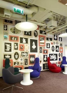 """Russian interior design firm UNK Project has designed an office space for Disney in Moscow, Russia. Creating the concept of new office of the """"Disney"""" Interior Work, Interior Design, Walt Disney, Inspiration Wall, Office Decor, Office Ideas, Office Interiors, Design Firms, Interior Decorating"""
