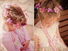 Flower Girl Crown and Wedding Décor by Country Girl Collections