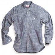 Indigo Chambray Long-Sleeve Button Up