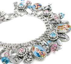 Our Lady Charm Bracelet Faith Jewelry Catholic Jewelry by BlackberryDesigns I Love Jewelry, Charm Jewelry, Fine Jewelry, Jewelry Design, Jewelry Making, Designer Jewelry, Bead Jewelry, Jewlery, Jewelry Accessories