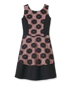 This Black Lace-Panel A-Line Dress - Toddler & Girls by RUUM is perfect! #zulilyfinds