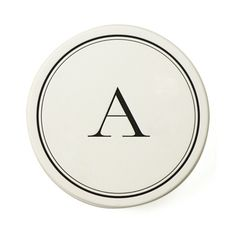 Monogrammed letter-press coasters (despite not changing my last name, conveniently we still have the same last initial)