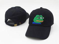 New Fashion Hip-Hop Strapback Sad Frog Emoji Meme Hat Unisex Pepe Baseball Cap