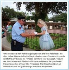 """so sweet -- this was one of my favourite parts of my job at Disney... seeing kids in  their little costumes and saying """"Oh! Wow!! Cinderella is here! What an honour to meet you, Princess."""""""