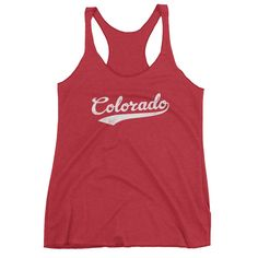 Vintage Colorado CO Women's Racerback Tank Top