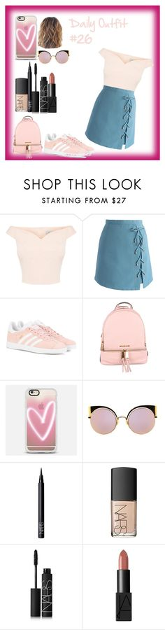 """""""Daily Outfit  #26"""" by niaoffcal ❤ liked on Polyvore featuring Chicwish, adidas Originals, MICHAEL Michael Kors, Casetify, Fendi and NARS Cosmetics"""