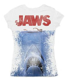 This one is for Liz...... White 'Jaws' Sublimation Tee - Women
