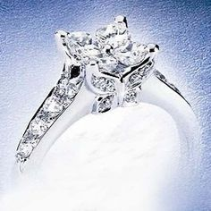 Oh how I love this ring!! A girl can dream I guess...    XXXcalla lily butterfly diamonds - NEW! platinum calla diamond ring with butterfly gallery 1.14ctw (R19-040047)