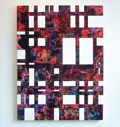 """""""Composition 6"""" by Joan Snitzer (acrylic painting, photography, collage) from A.I.R. gallery"""