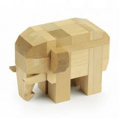 wooden elephant - Google Search