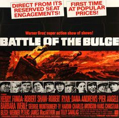 Battle of the Bulge (1966) Original 6 Sheet Movie Poster