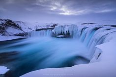 "The Icy Flow of Goðafoss - A frigid morning in Goðafoss. The cloud cover above and icy cover below seemed very fitting for this spectacular waterfall. This image was taken on my '<a href=""http://www.erezmarom.com/index.php/photography-workshops/view/winter-paradise-north-iceland-winter-photo-workshop"">Winter Paradise</a>' southern Iceland workshop this January. If you'd like to experience and shoot some of the world's most spectacular destinations, check out next year's <a…"