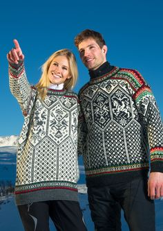 The Lillehammer sweater is part of the official outfit for the Norwegian Olympic Team during the XVII Olympic Wintergames at Lillehammer, Norway, in Design: Margaretha Finseth