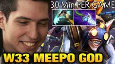 w33 Meepo - 2 .Games of the Meepo God Dota 2