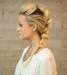 Pull Through Mohawk Braid hair tutorial.