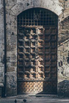Door in San Gimignano, Italy