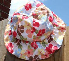 Gymboree Baby Girls Toddler Hat Floral Summer Sunhat 12-18 Months  #Gymboree