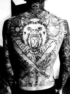 Tattooed back. #tattoo #tattoos #ink