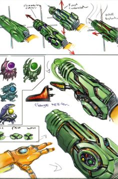 Metroid Prime Early Beam and Upgrades concept art Metroid Samus, Metroid Prime, Samus Aran, Game Concept, Concept Art, Arm Cannon, Character Art, Character Design, Zero Suit Samus