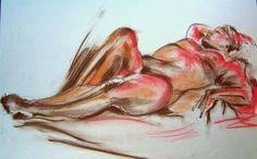 barbara craig-Reclining he elegido esta obra porque a pesar de mostrar desorden en sus lineas muestra cierta belleza en el.