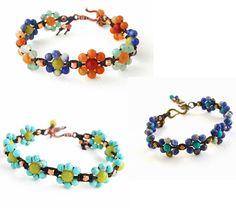 Erin Siegel Jewelry macrame flower bracelet