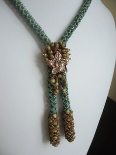 Tree Spirit Beadwoven Lariat Necklace EBWC by BeadedDreams8, $128.00  This is really cool!!!!