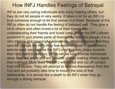 INFJ betrayal is like a person committing suicide & putting themselves & others mindlessly at risk...