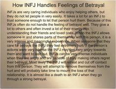 INFJ & betrayal -Me