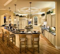 New concepts of decorating luxury kitchen