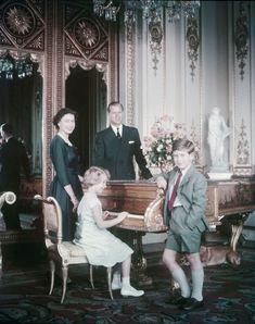 prince charles and princess anne | , Prince Philip, and their children, Prince Charles and Princess Anne ...