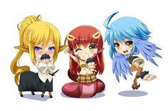 Centorea Shianus, Miia, Papi (Monster Musume: Everyday Life With Monster Girls) Anime Chibi, Anime Art, Cyberpunk, Monster Museum, Western Anime, Monster Musume No Iru, Everyday Life With Monsters, Cute Kawaii Girl, Fanart