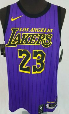 ed842ac9c86 Lebron James #23 Lakers Lore Series City Edition Nike NBA Jersey Size 48 L #