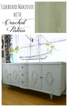 Sideboard Makeover with Cracked Patina by Ace Blogger @primitiveproper