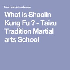 What is Shaolin Kung Fu ? - Taizu Tradition Martial arts School