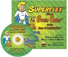 Grades 3-5 : Superflex® takes on Brain Eater and the Team of Unthinkables.  Superflex, our Social Thinking superhero, helps teach elementary school students how they can use strategies to conquer their own Brain, not quite so flexible Team of Unthinkables. Through this humorous and delightful comic book, students are encouraged to think about thinking and what they can do to self-regulate some of their own wayward thoughts and behaviors.