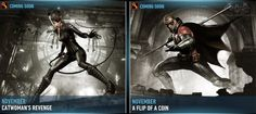 catwoman revenge and robin Batman Arkham Knight, Catwoman, Revenge, Robin, Fictional Characters, Fantasy Characters, European Robin, Robins