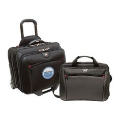 """Wenger - POTOMAC 2-Piece Business Set The 2-in-1 Potomac includes a wheeled case with a comfort grip trolley handle and superior interior organization and a removable day case for everyday essentials 17""""W x 15.5""""H x 10""""D - Price: $98.00 (Show Special Price) (Qty: 95)"""