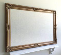 Wedding Seating Card Display MAGNETIC FABRIC BOARD Antique Gold Cream Ivory Vintage Seating Chart Frame Memo Board Bulletin Board Elegant