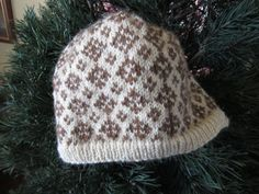 1940's Style Sweater Hat Cream and Brown by NotEnoughForSoup