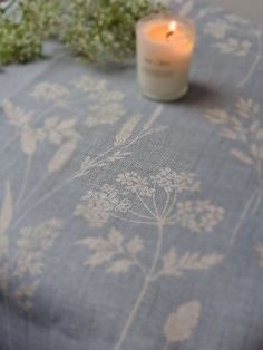 Wild Grasses & Cow Parsley by Peony & Sage. Available for bespoke curtains & blinds from Victoria Clark Interiors. Lounge Curtains, Linen Curtains, Curtains With Blinds, Drapery Fabric, Cottage Curtains, Curtains Living, Kitchen Blinds, Kitchen Curtains, Cow Parsley