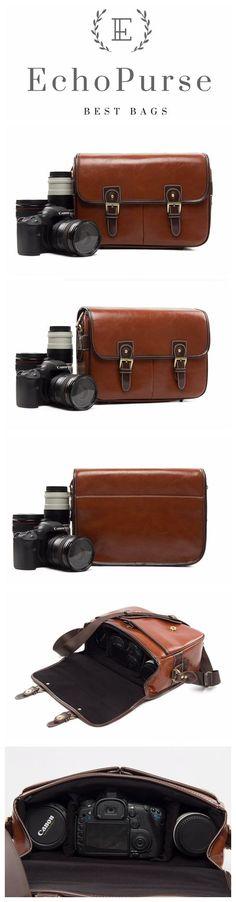 Handmade Leather DSLR Camera Pouch, SLR Camera Purse 1356