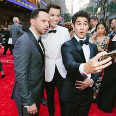 @nickkroll @johnmulaney and @darrencriss paused for a selfie on @thetonyawards red carpet. See more candid moments from the night in the link in our bio. Photographed by @coreytenold.  via VOGUE MAGAZINE OFFICIAL INSTAGRAM - Fashion Campaigns  Haute Couture  Advertising  Editorial Photography  Magazine Cover Designs  Supermodels  Runway Models