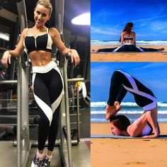 Women Sports Yoga Workout Gym Fitness Pants Jumpsuit Athletic Leggings – G.M Hawk Ltd™ Best Leggings, Women's Leggings, Leggings Fashion, Workout Leggings, Workout Pants, Yoga Fitness, Fitness Pants, Fitness Style, Workout Fitness
