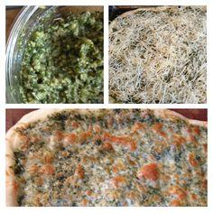 basil pesto ... green pizza