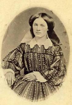1850s.  She's so pretty!  She reminds me of Heather Rattray from the Wilderness Family movies made in the 1970s.  hehe!