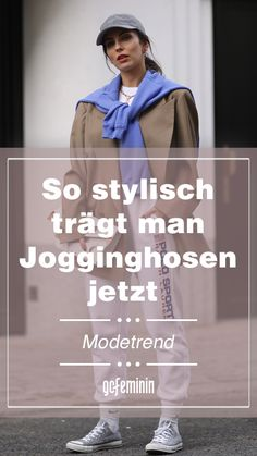 Fashion-Trend: So werden Jogginghosen jetzt gestylt Movies, Movie Posters, Fashion Tips, Look Thinner, Comfy Pants, Spring Summer, Styling Tips, Fashion Trends, Woman