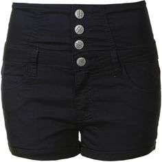 Dark Navy High Waisted Blue Denim Shorts ($15) ❤ liked on Polyvore featuring shorts, bottoms, pants, navy, blue shorts, highwaisted shorts, cotton shorts, highwaisted jean shorts and denim shorts