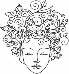 Earth Mother | Urban Threads: Unique and Awesome Embroidery Designs #embroiderypatterns